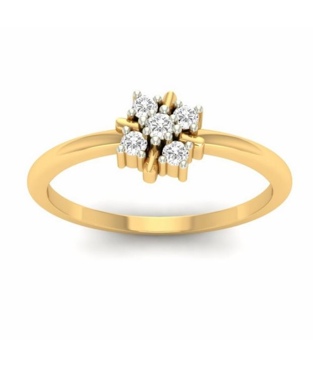 Kuberbox 14k Gold Diamond Curio Cluster Ring