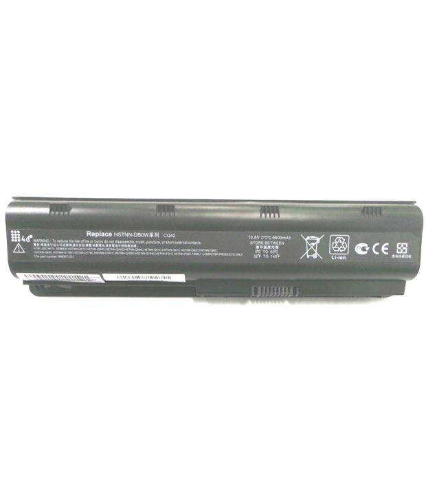 4d Hp Hstnn-ib1e 9 Cell Laptop Battery