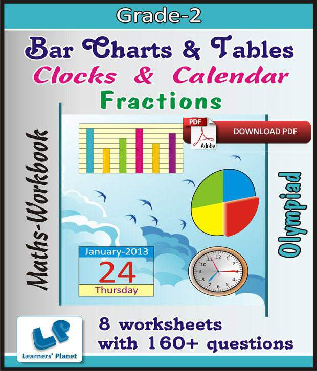 Grade-2-Olympiad-Math-Bar-Chart-Tables-Clock-Cale-Fraction-WB (E ...