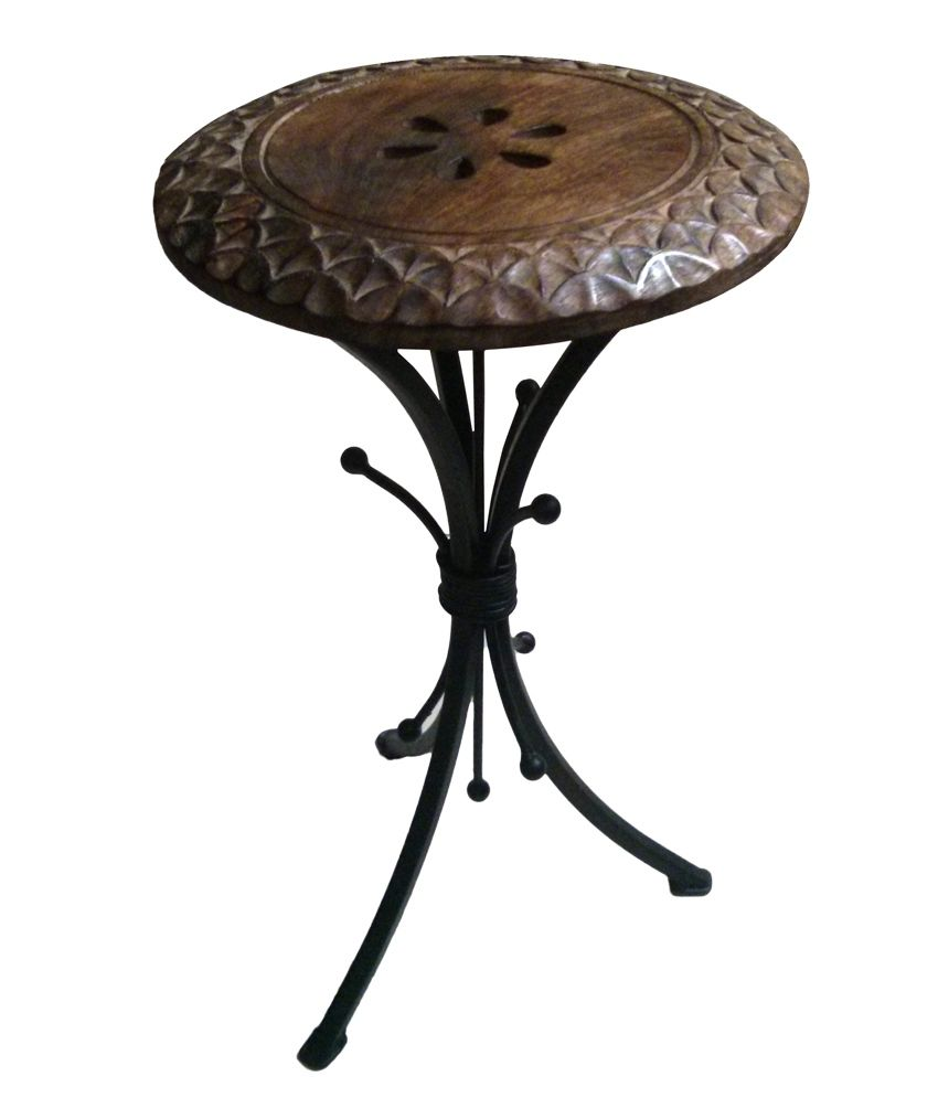 Komforts Wood and Wrought Iron collection Center / Corner / Display table