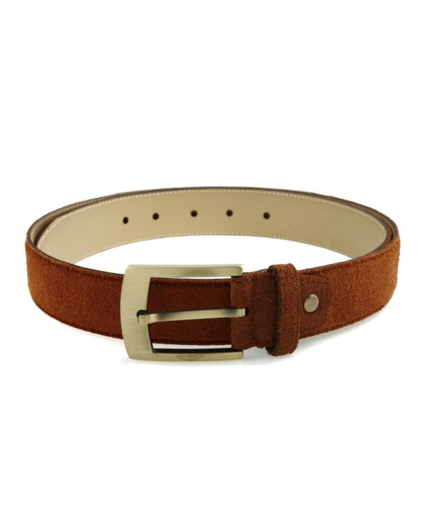 Lino Perros Brown Casual Single Belt ForMen