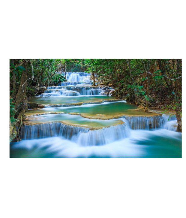 999store Forest Waterfall At Mount Vinyl Home Decor PVC Wall Sticker 91cm X 61cm