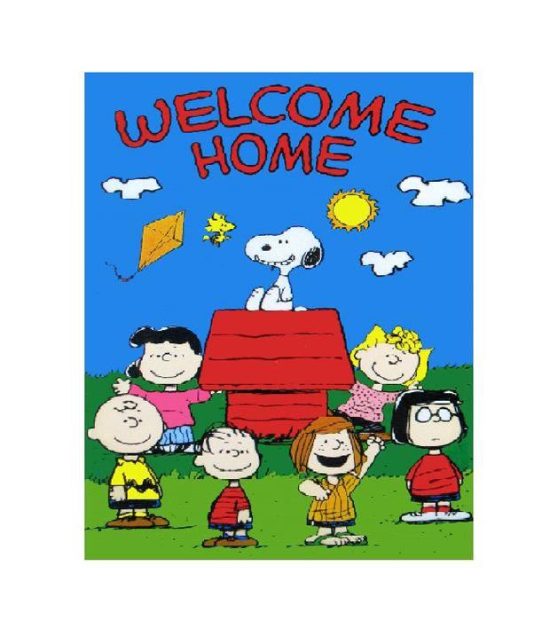 999store Welcome Home Cartoon Vinyl Home Decor Pvc Wall