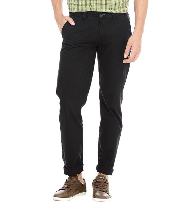 Basics Black Slim Casuals