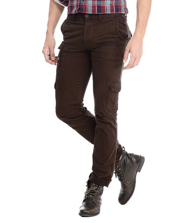 Basics Brown Slim Casuals