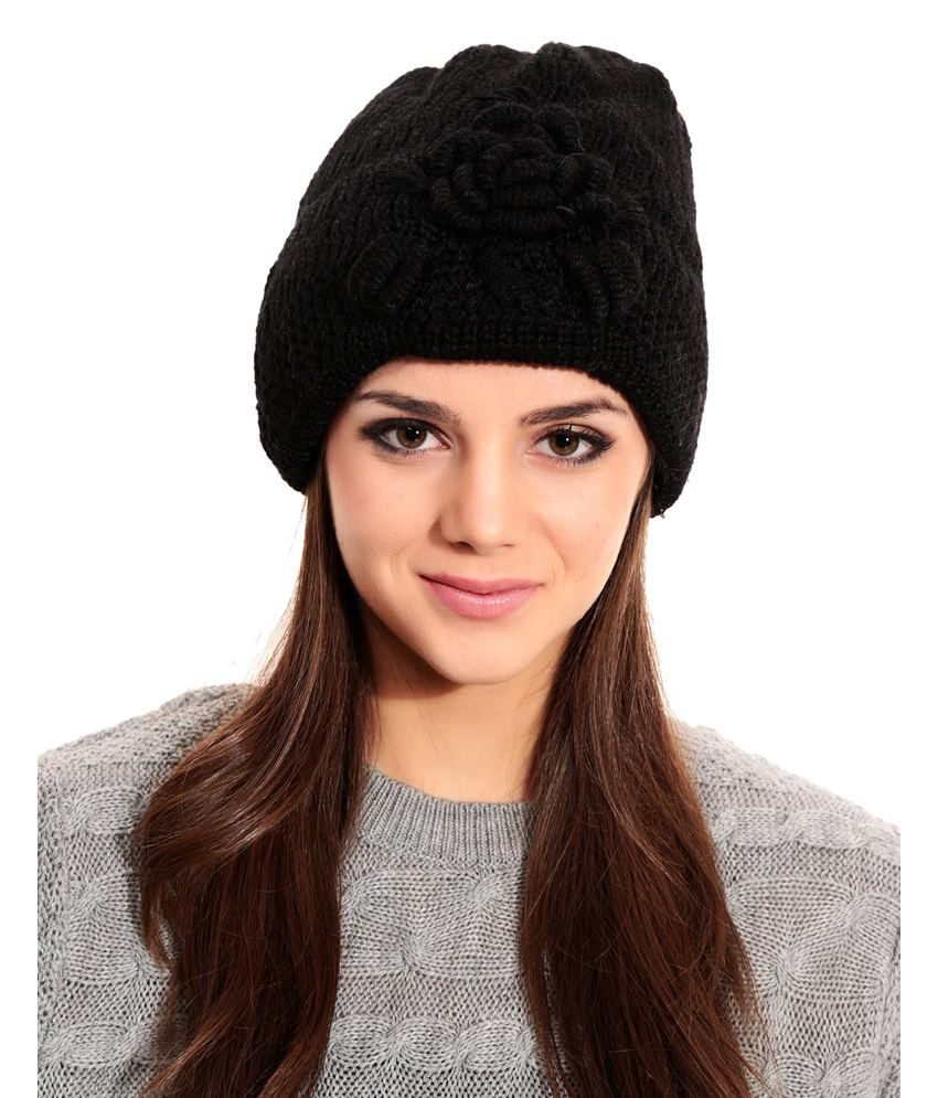 f8f6e6642b6 Tab91 Black Woollen Winter Single Casual Skull Cap  Buy Online at Low Price  in India - Snapdeal