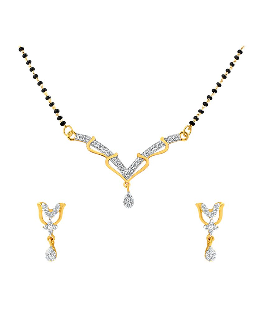 Mahi Gold Plated Tulip Mangalsutra Set