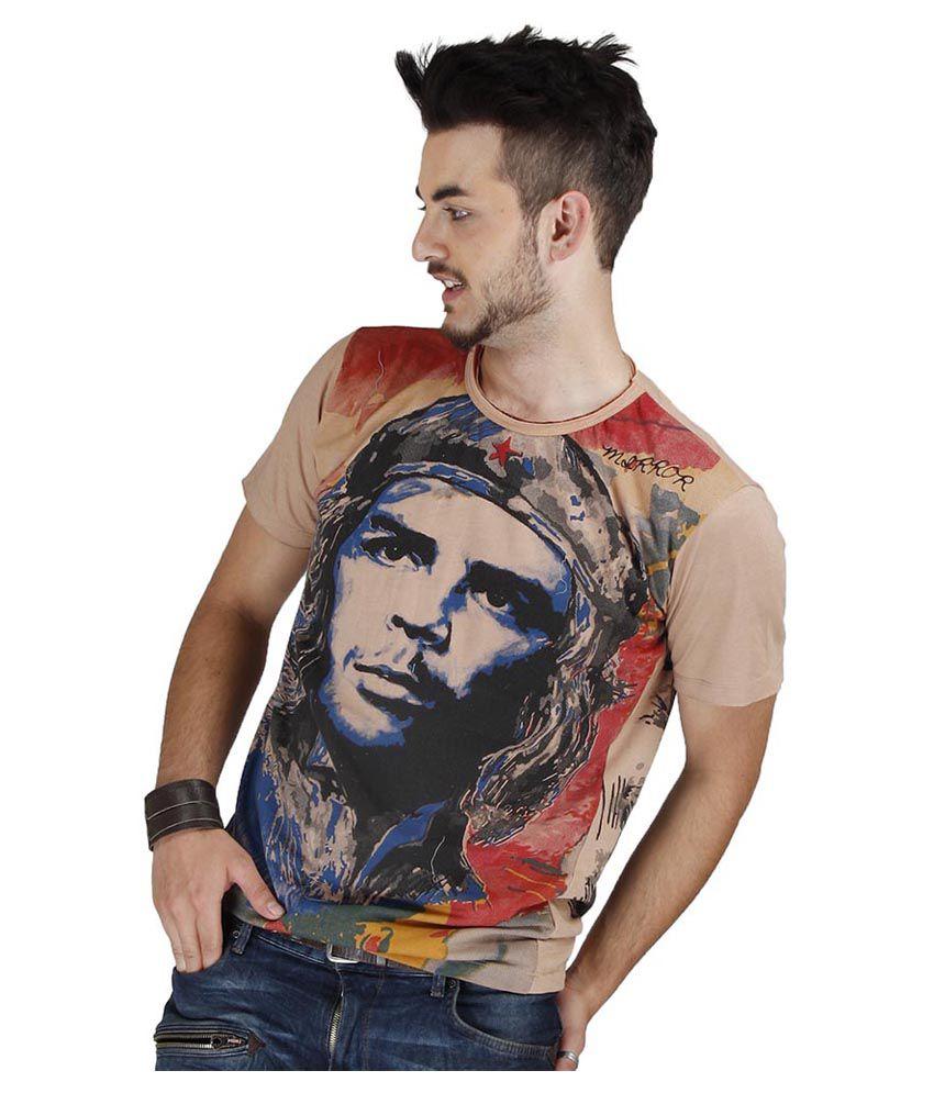 Mirror Tees Mulitcolour Che Guevara Printed Cotton T-shirt