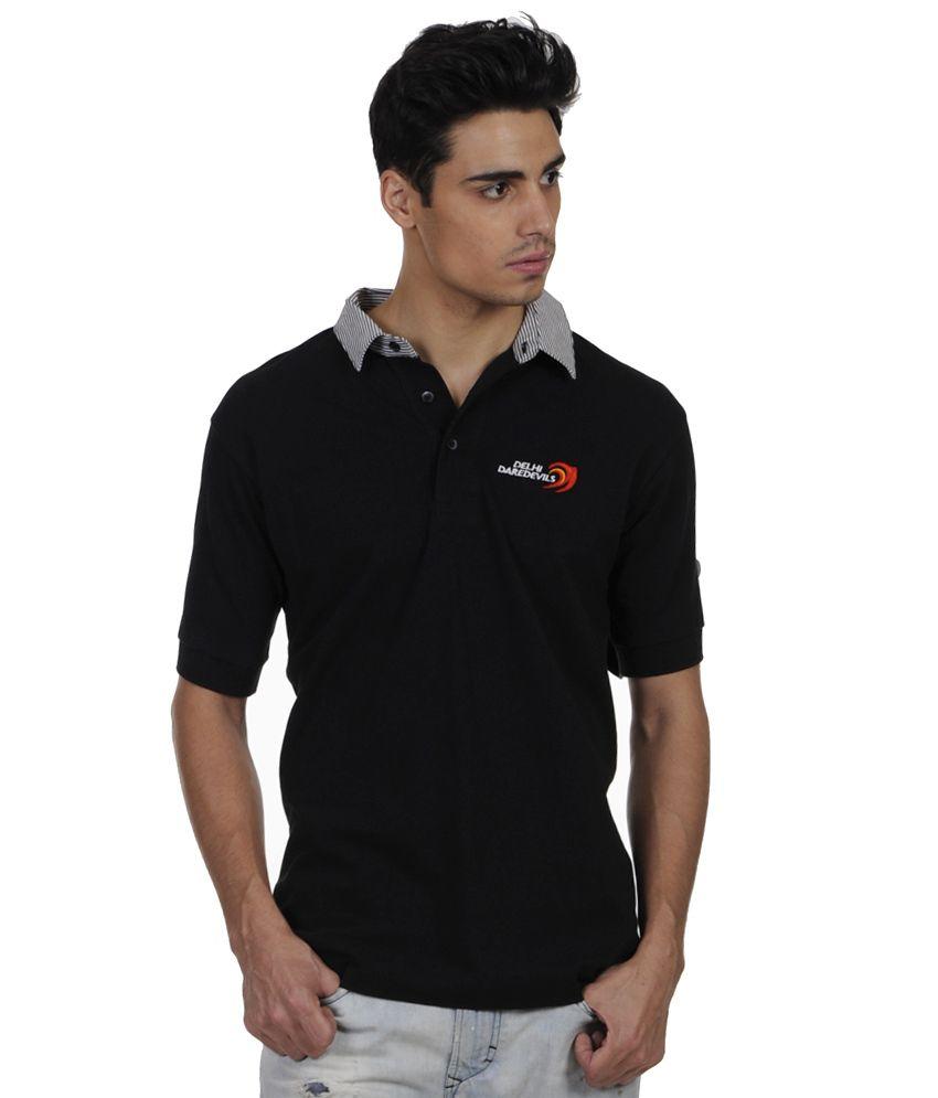 Delhi Daredevils The Original Black Round Neck T-shirt