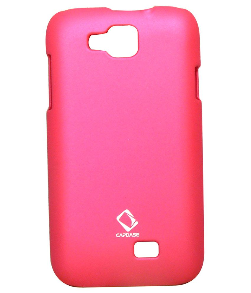 sale retailer 03fd7 461ab Rubberized Back Cover For Micromax Canvas Fun A63 - Dark Pink ...