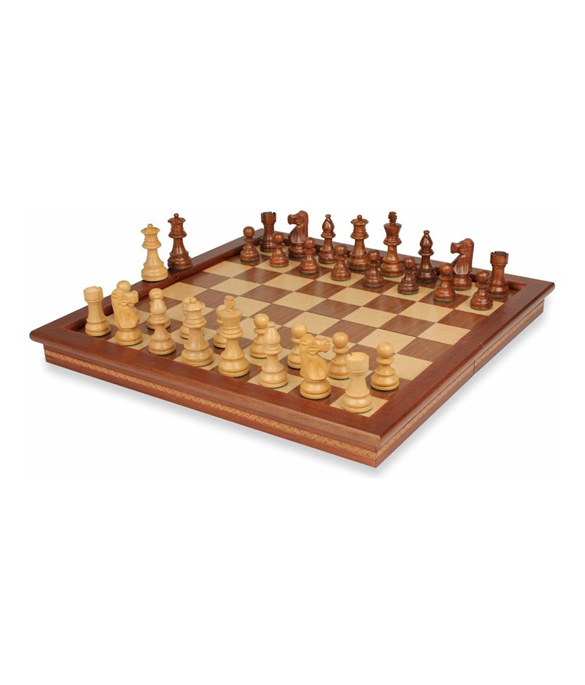 Tetronix India Sheesham Wood Magentic Centre Folding Chess Set -6 Inch