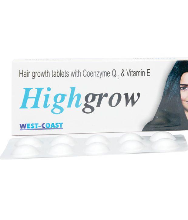 westcoast highgrow hair growth tablets with conzyme q10 vitamin e 30 tab