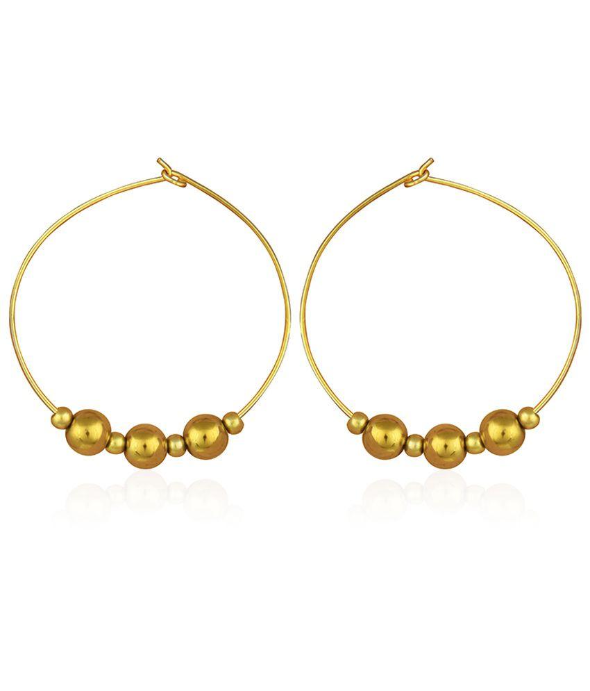 Pearlz Ocean Golden Hematite Hoop Earrings