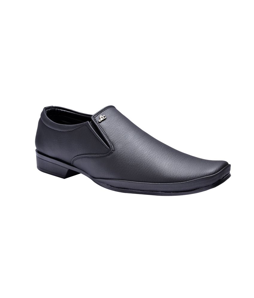 Prolific Black Synthetic Leather Formal Shoes