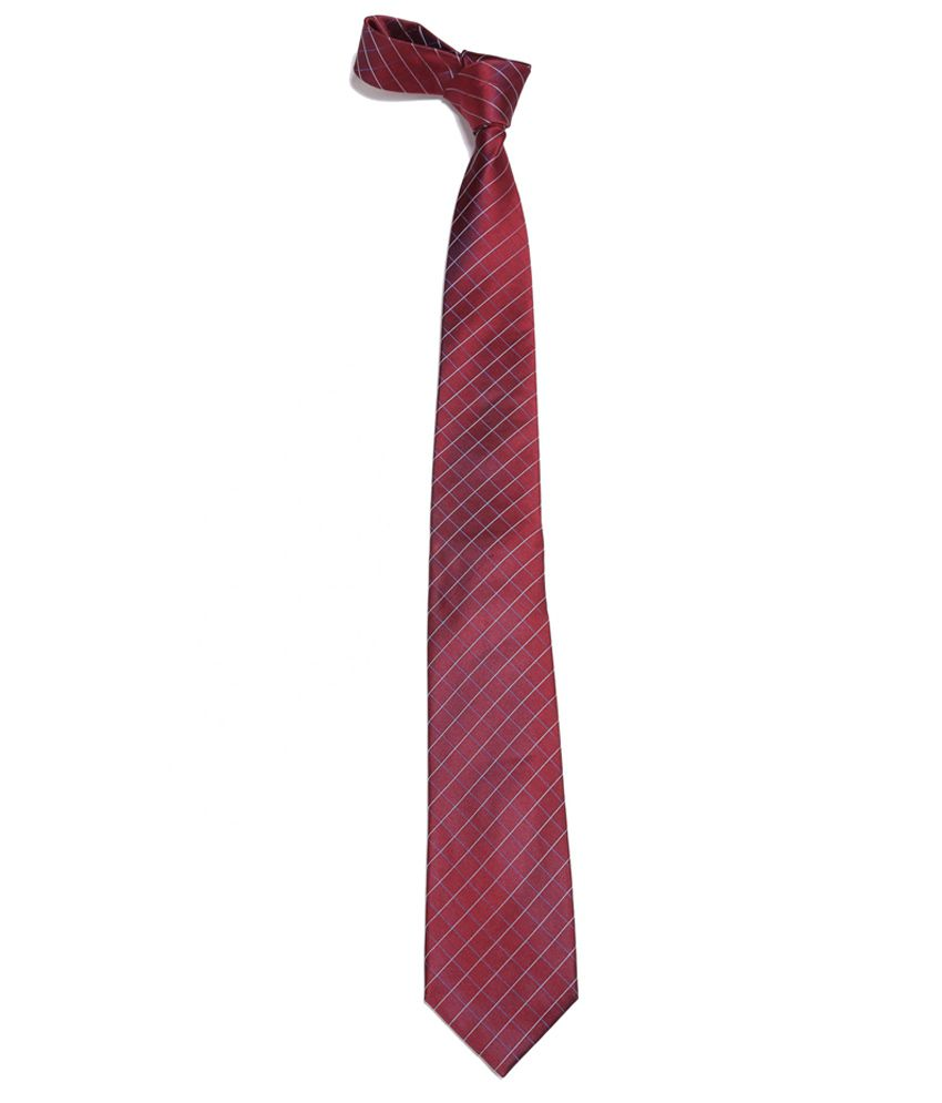 Van Heusen Maroon Silk Dashing Formal Necktie