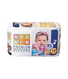 Mee Mee Baby Premium Extra Large Size Diapers_16 Pieces
