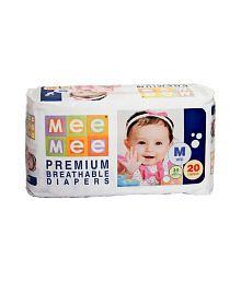 Mee Mee Baby Premium Medium Size Diapers_20 Pieces