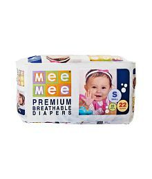 Mee Mee Baby Premium Small Size Diapers_22 Pieces