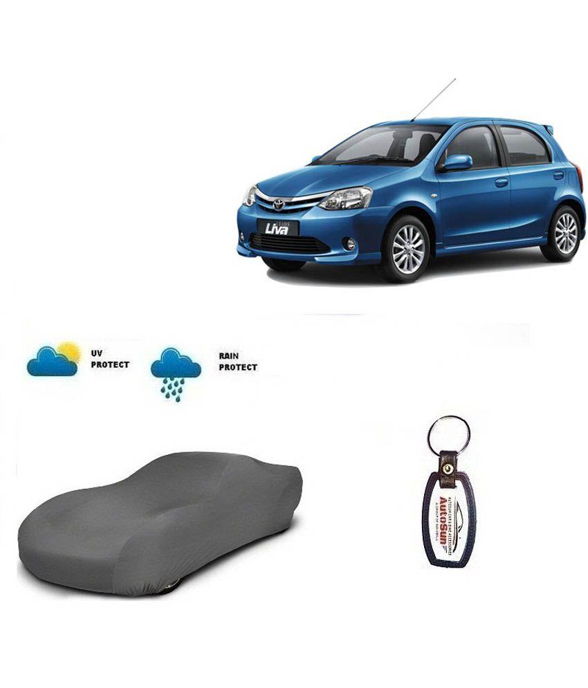 Grey Car Foot Mats For Toyota Etios Liva Buy: Autosun Car Body Cover For Toyota Etios Liva