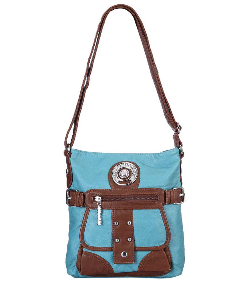 Bags Craze BC-ONLB-389 Blue Sling Bags