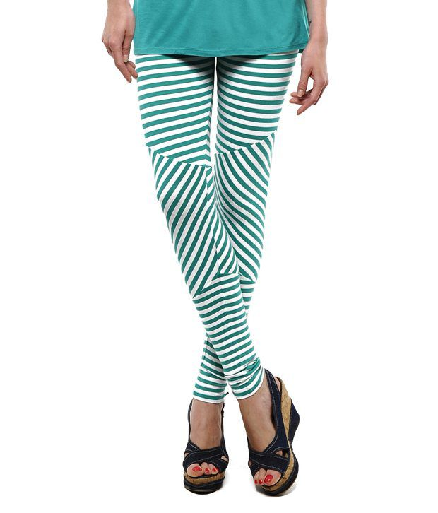 Femmora Green Cotton Tights