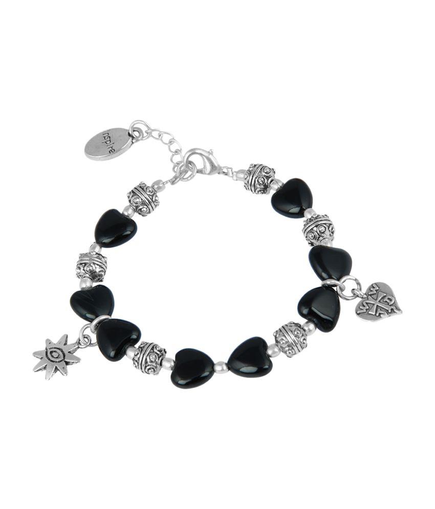 Pearlz Ocean Heart Locked Charm Bracelet