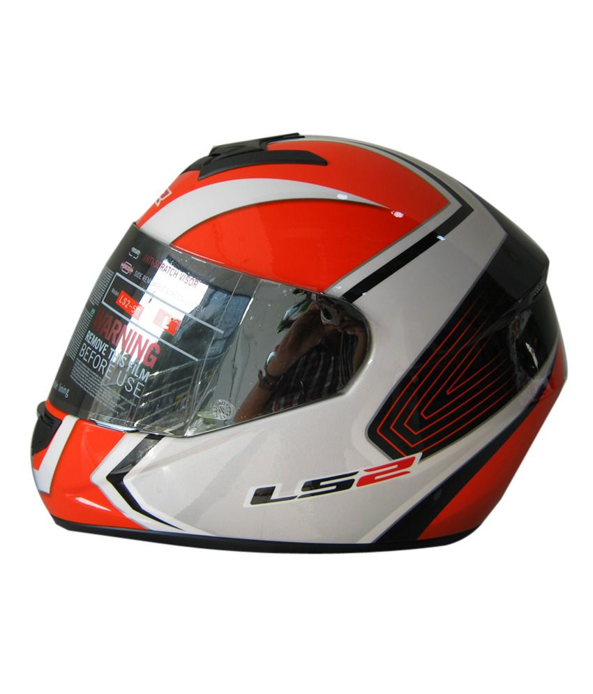 LS2 - Helmet - FF 350 Corsa White Orange Size: Large 58 cms  available at snapdeal for Rs.4893