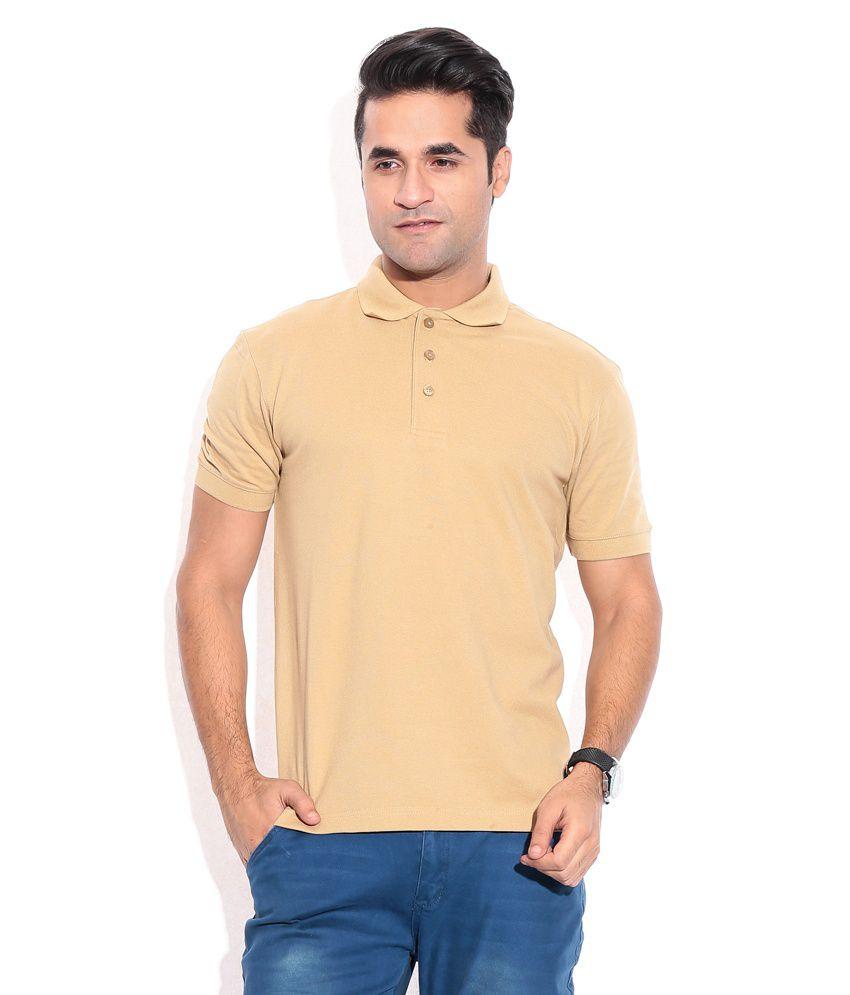 Wilkins & Tuscany 10159 Stylish Beige Men T Shirt
