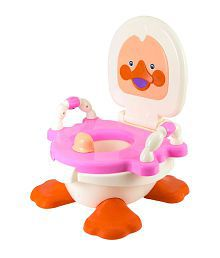 Panda Duck Potty Seat For Kids- Pink