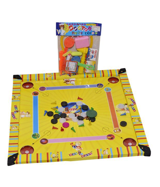 E Soft Carrom Cum Ludo Board Toy With Doctor Set For Kids