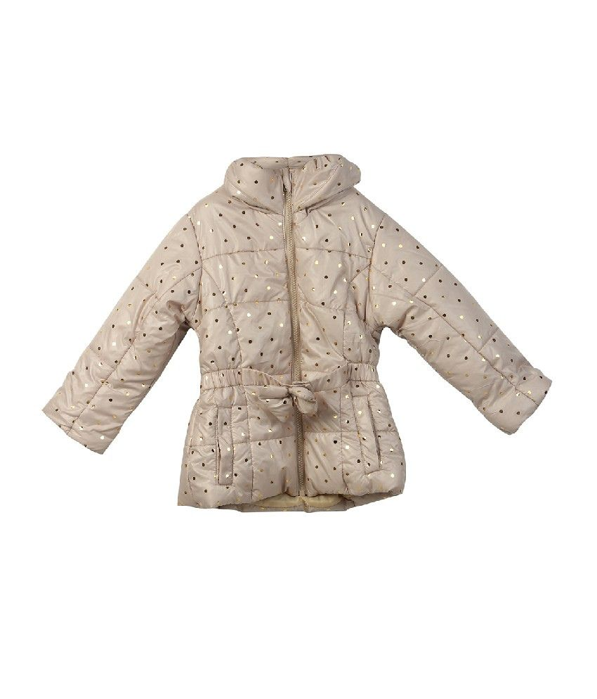 Beebay Off White Color Floral Printed Jacket with Belt For Kids