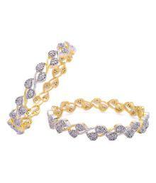 Vitrag Jewels Elegant A.d. Bangle Pair