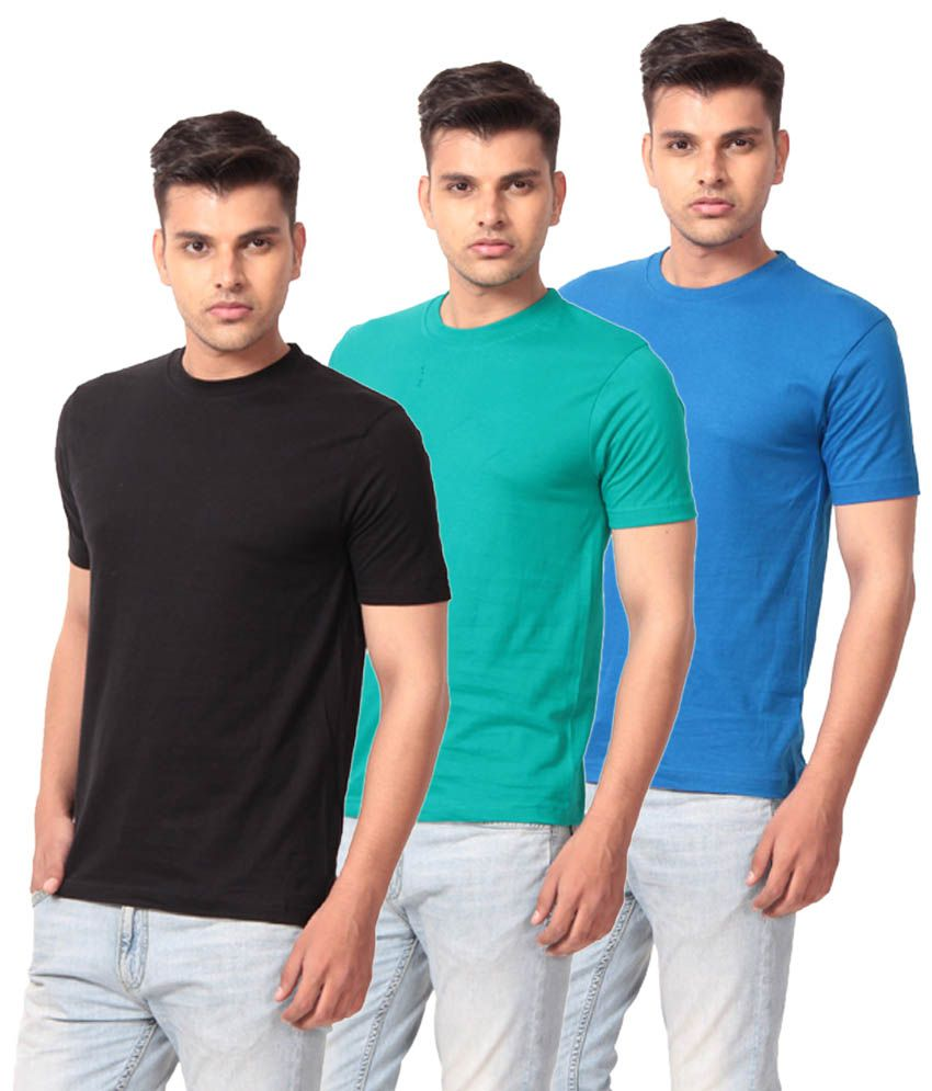 French CountyMulti Cotton T-shirt Combo Of 3
