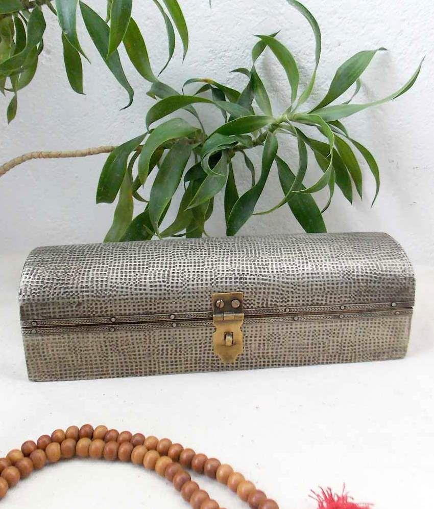 Indune Lifestyle Golden Wood And Metal Box