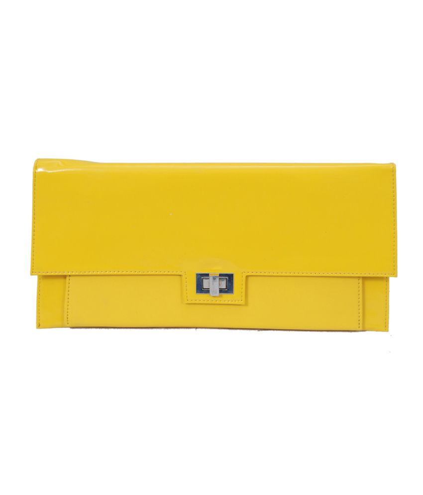 The Runner Non Leather Yellow Women Regular Wallet