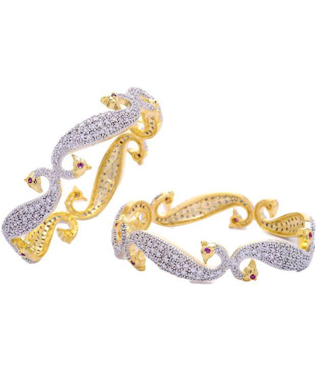 Jwells & More American Diamond Studded Bangles