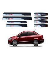 Shopper's Hub Car Footsteps And Door Guard For Fiat Linea