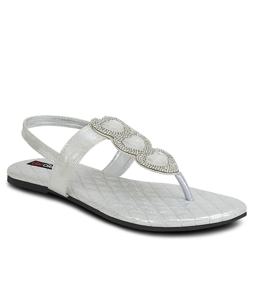 Get Glamr Silver Sandal