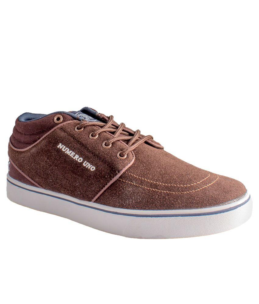 Numero Uno Brown Sneaker Shoes