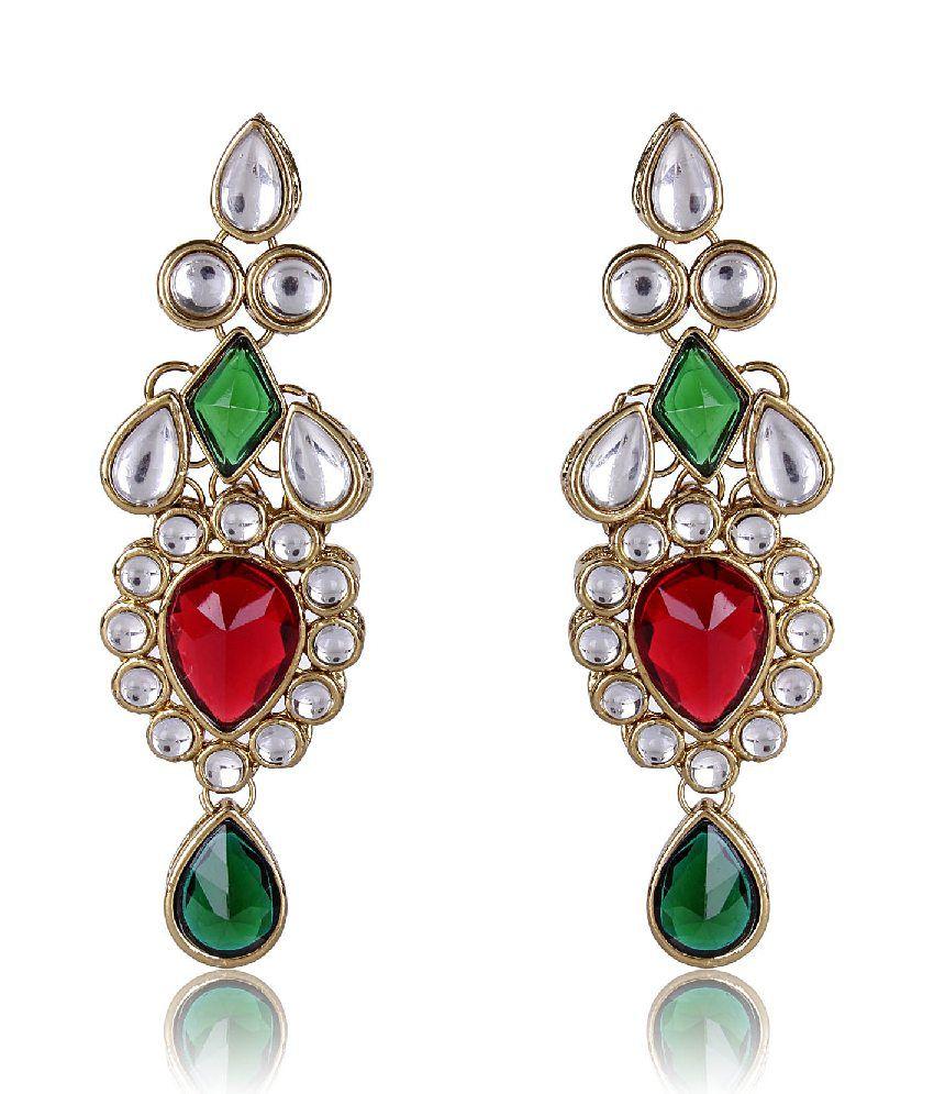 Scrunchh Kundan Earrings