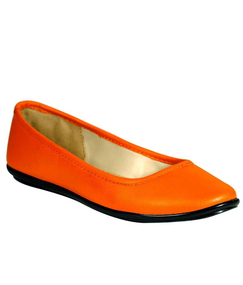 STYLAR Orange Ballerinas