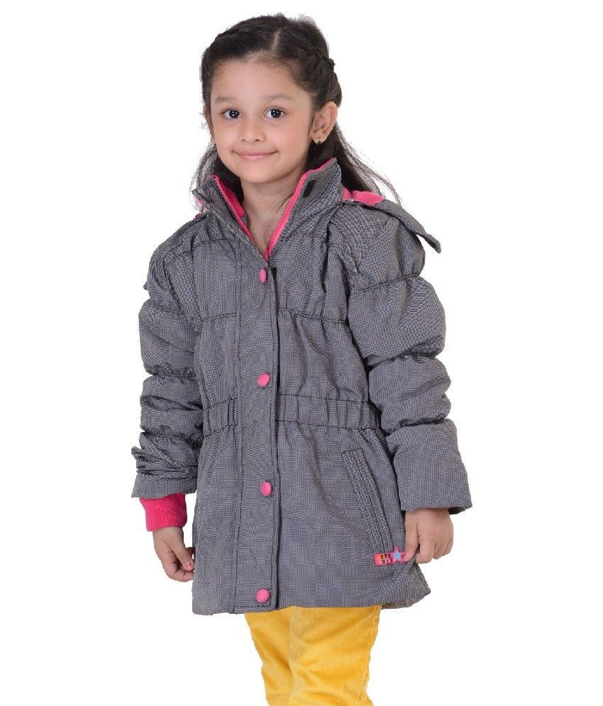 Sportking Full Sleeve Gray Color Hooded Padded Jackets For Kids