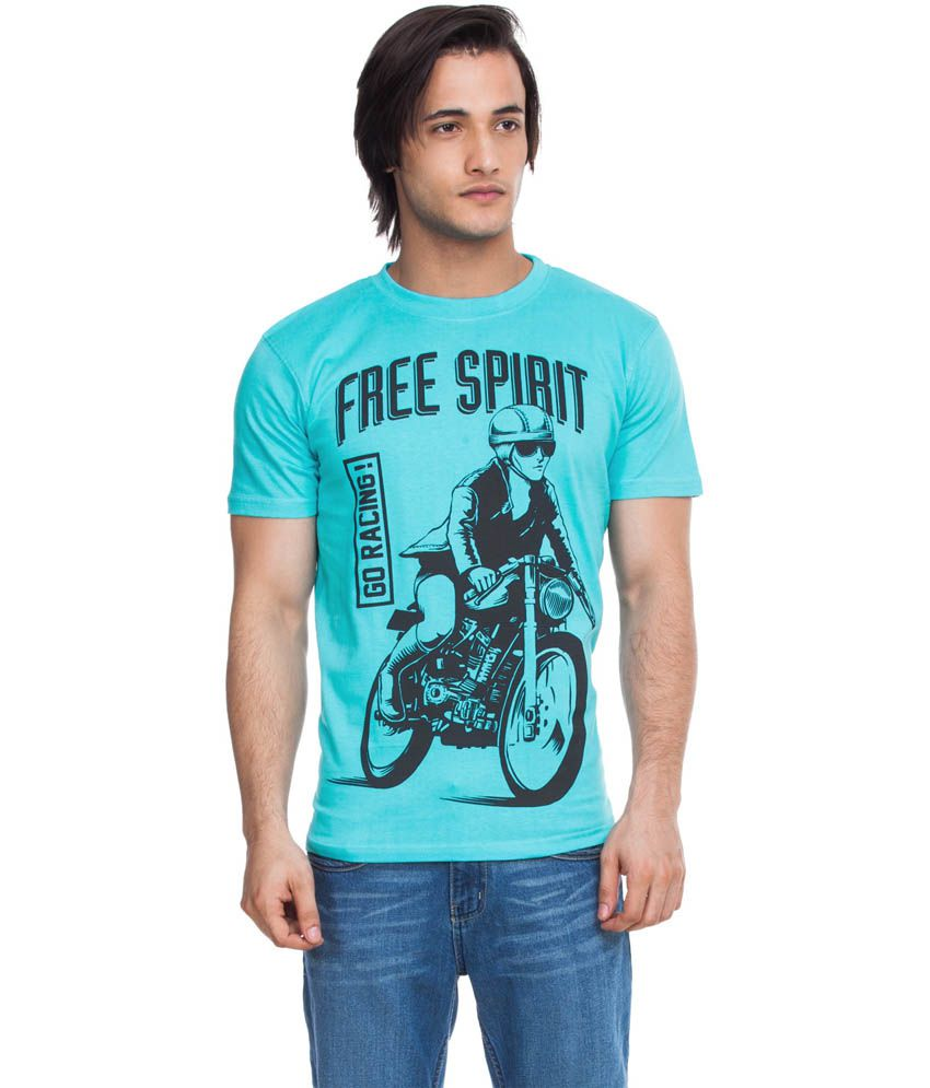 Zovi Free Spirit Neon Blue Graphic T-shirt