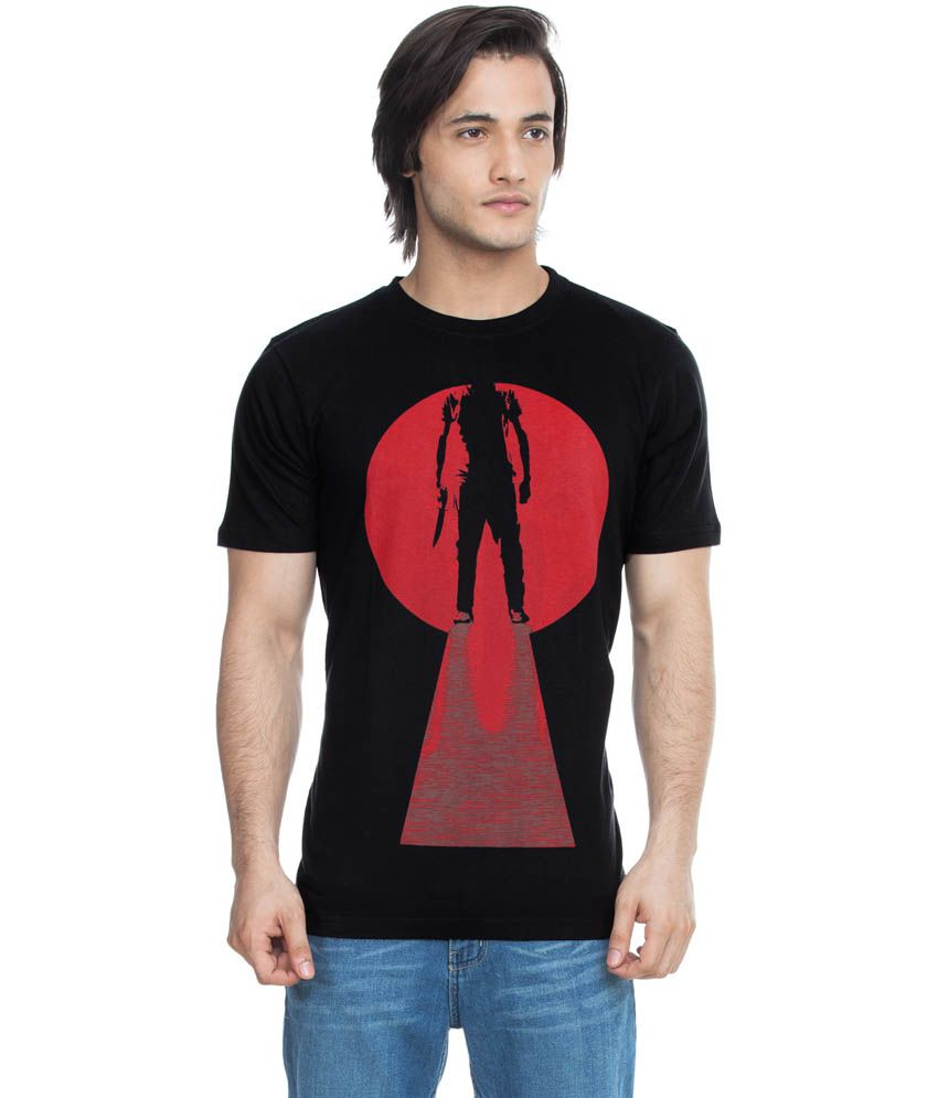 Zovi Last Moment Black Graphic T-shirt