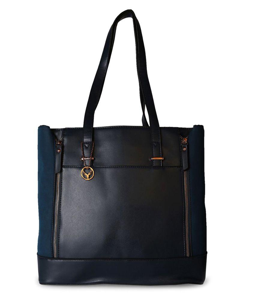 Allen Solly 8907088412034 Black Tote Bags