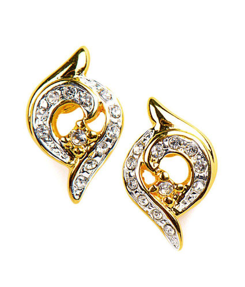 Estella Gold Plated Stud Earrings