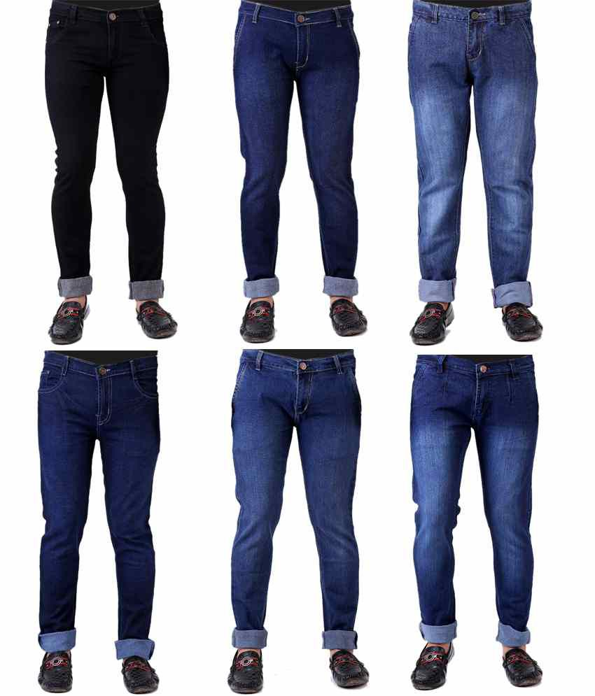 Ansh Fashion Wear Combo Of 6 Stretchable Denim Jeans