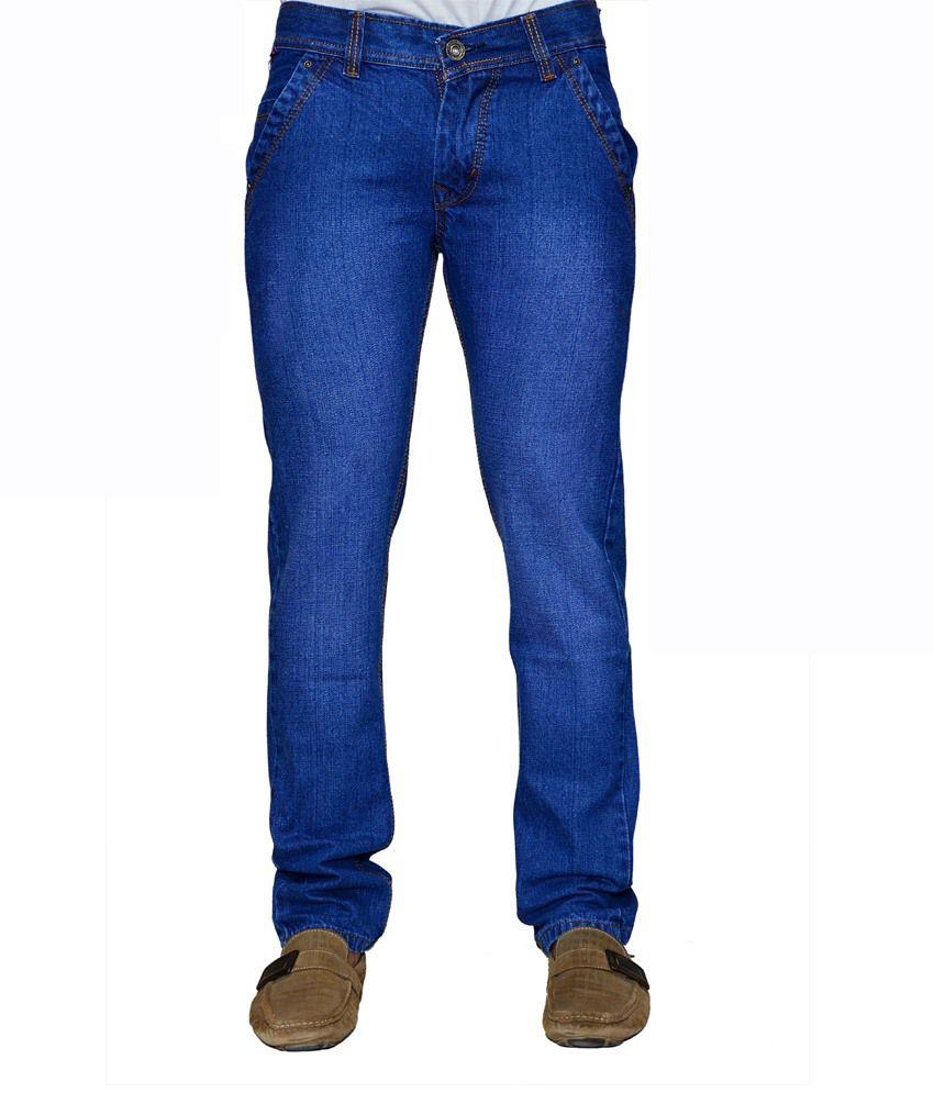 Ansh Fashion Wear Fashion Wear Blue Cotton Regular Fit Jeans