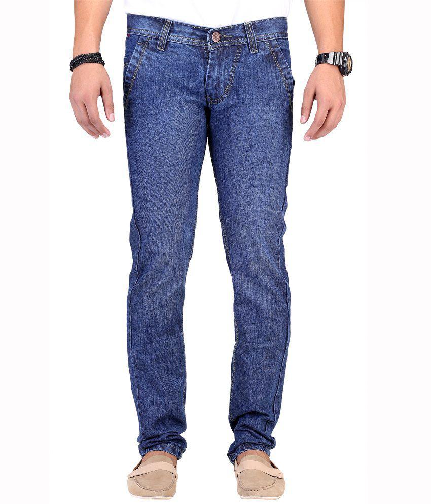 Kaasan Blue Streachable Regular Fit Jeans