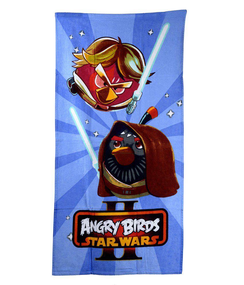 Sassoon Angry Birds Multi-colour Cotton Bath Towel